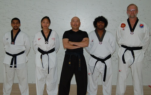 Master Yeoh and his teaching assistants
